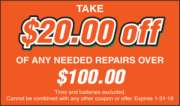 our auto repair special
