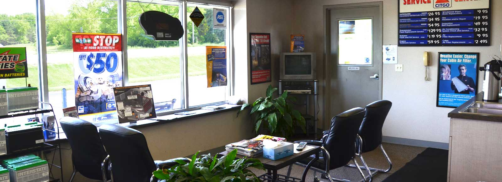 AFS Service Auto Repair Shop - Waiting Area