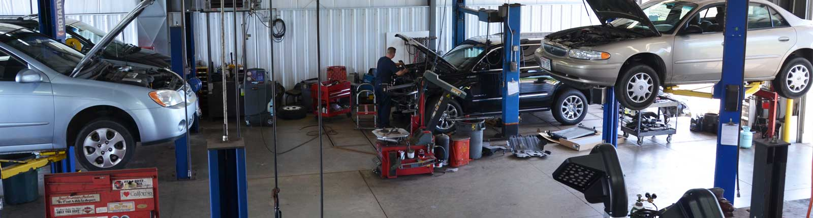 Inside the AFS Service's Auto Repair shop